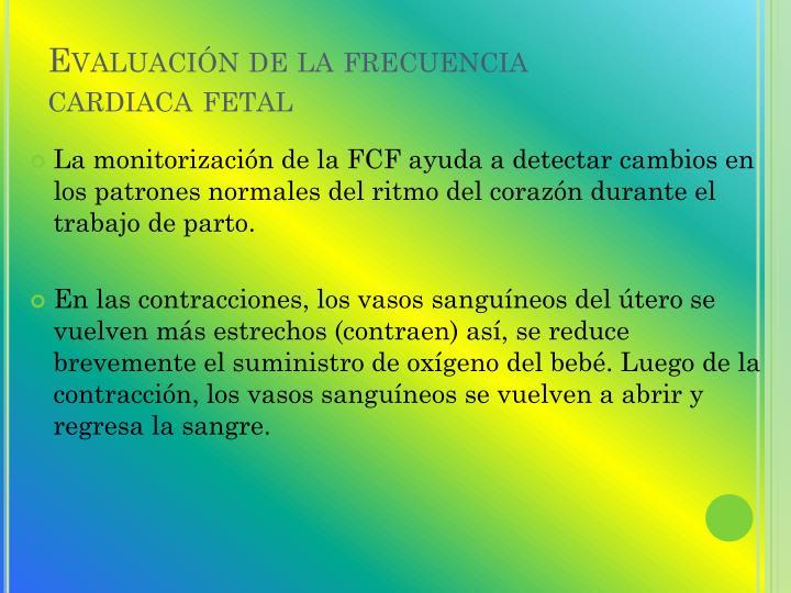 Evaluación de la frecuencia cardiaca fetal