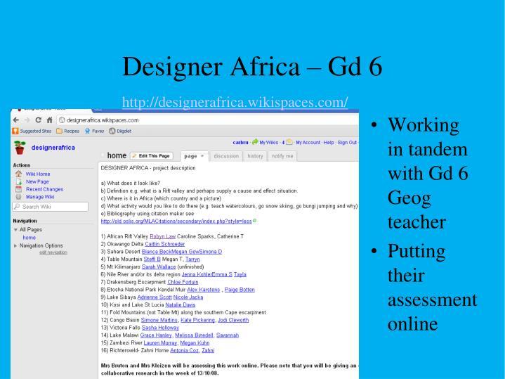 Designer Africa – Gd 6