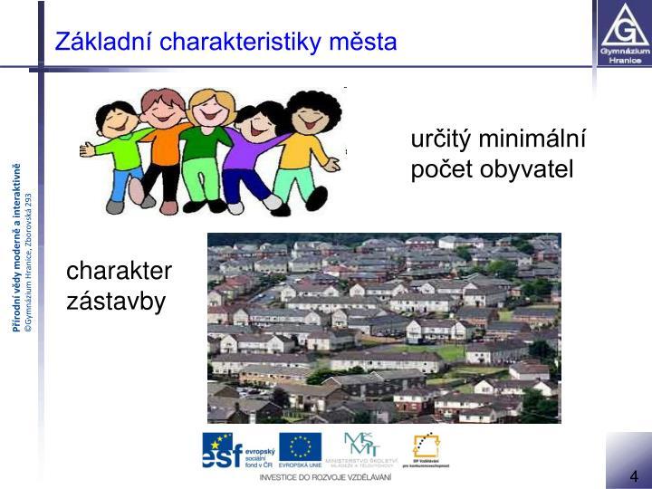 Základní charakteristiky města