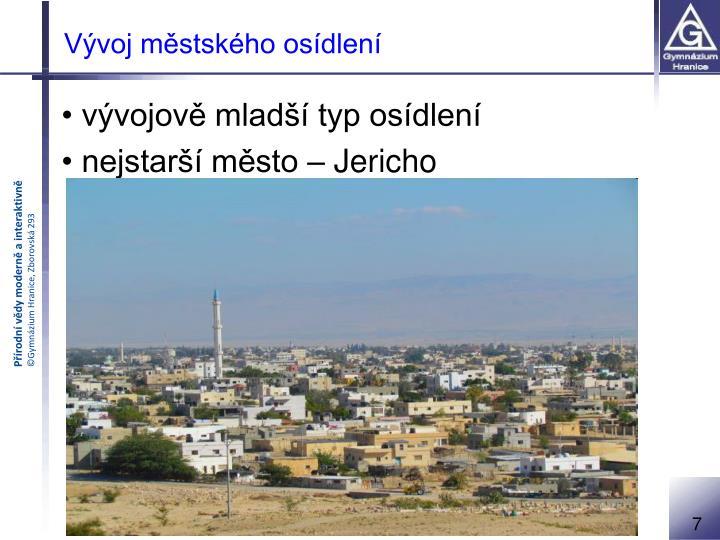 Vývoj městského osídlení