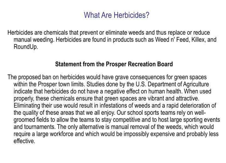 What Are Herbicides?