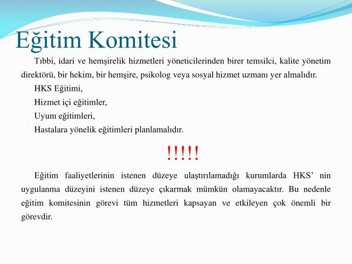 Eitim Komitesi
