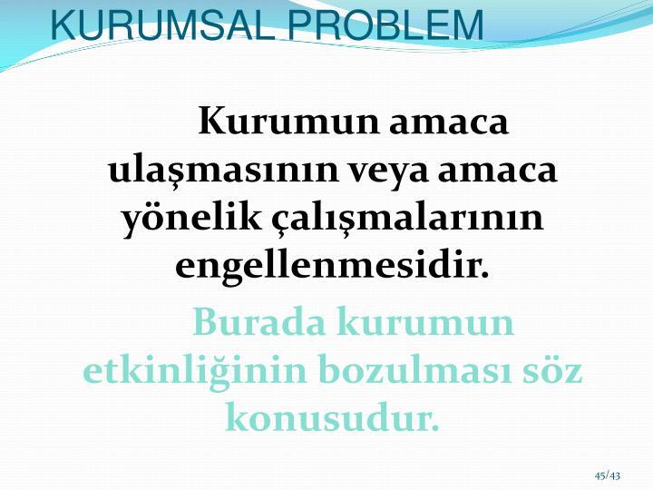 KURUMSAL PROBLEM
