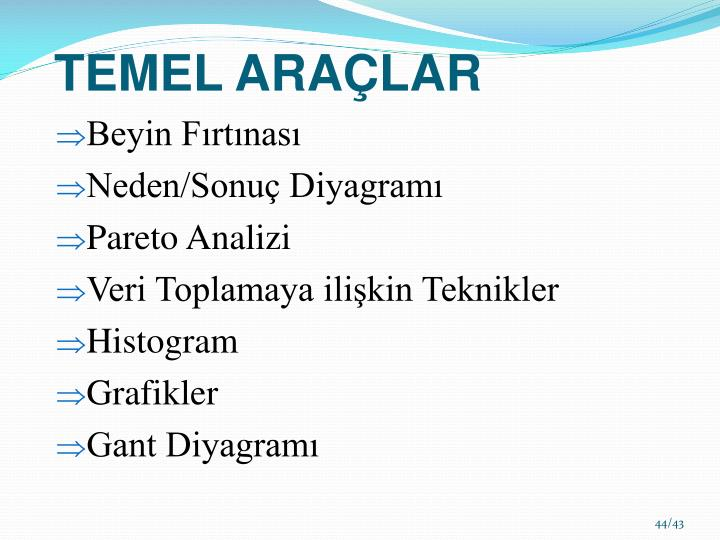 TEMEL ARAÇLAR