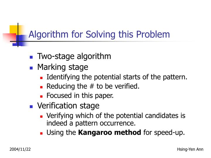 Algorithm for Solving this Problem