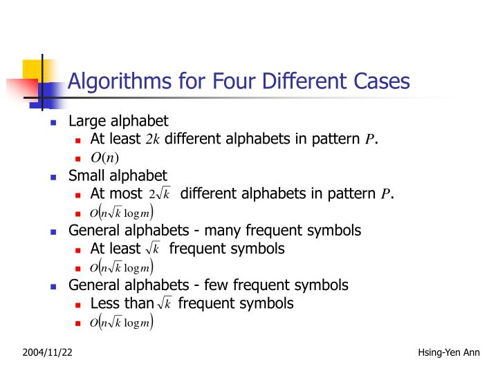 Algorithms for Four
