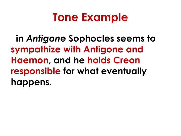 Tone Example