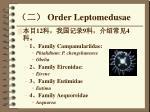 order leptomedusae