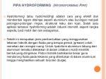 pipa hydroforming hydroforming pipe