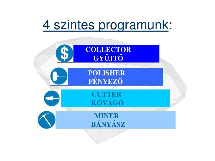 4 szintes programunk
