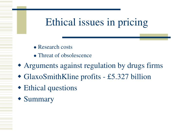 Ethical issues in pricing2