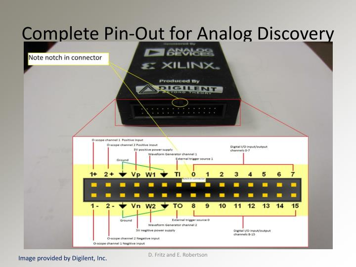 Complete Pin-Out for Analog Discovery