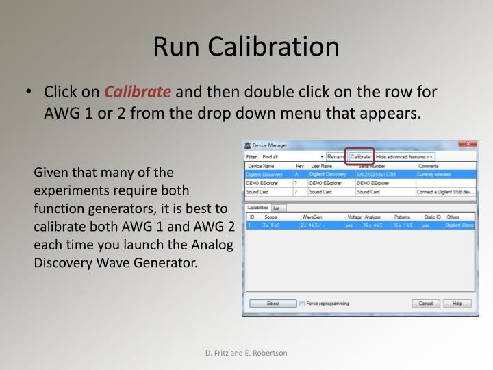 Run Calibration