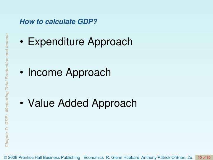 How to calculate GDP?