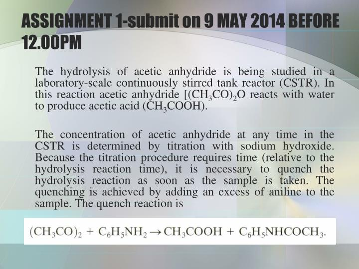 ASSIGNMENT 1-submit on 9 MAY 2014 BEFORE 12.00PM