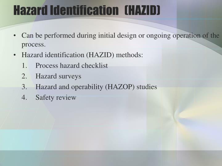 Hazard Identification(HAZID)
