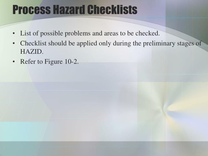 Process Hazard Checklists