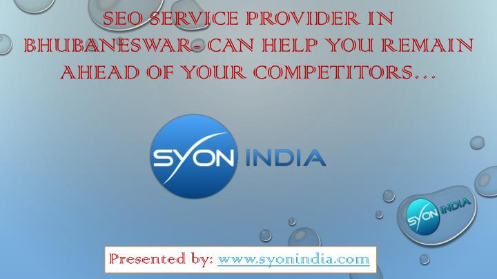 Seo service provider in bhubaneswar can help you remain ahead of your competitors