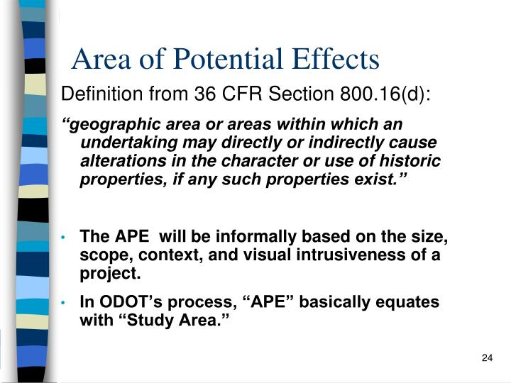 Area of Potential Effects