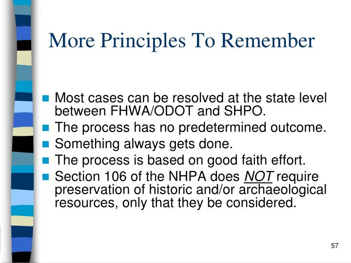 More Principles To Remember
