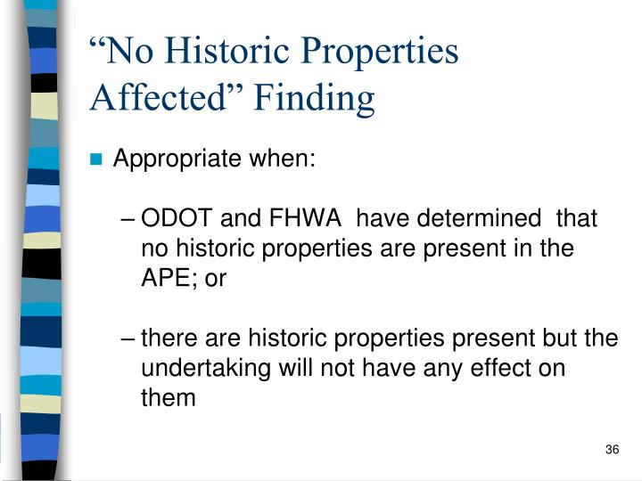 """No Historic Properties Affected"" Finding"