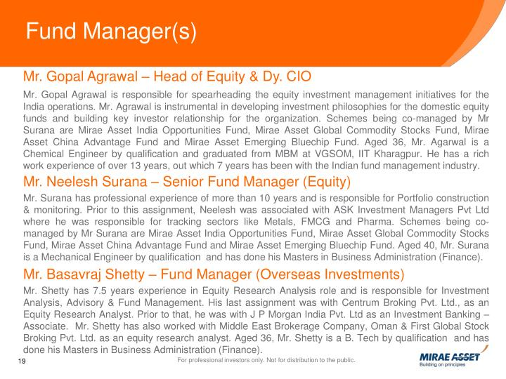 Fund Manager(s)