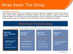 mirae asset the group