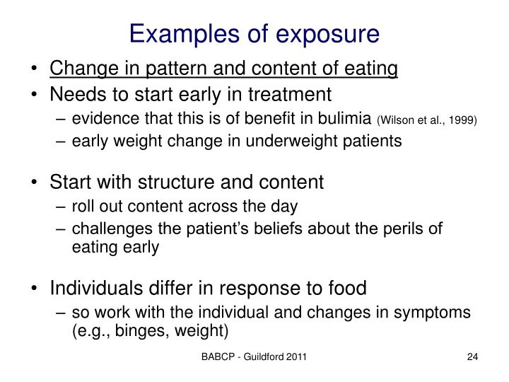 Examples of exposure