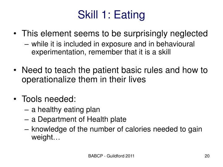 Skill 1: Eating