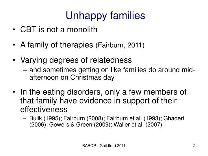 Unhappy families