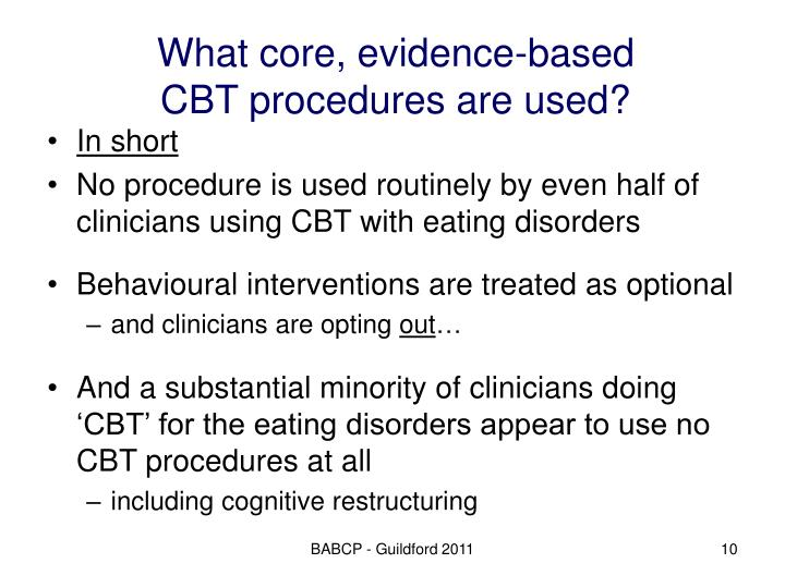 What core, evidence-based