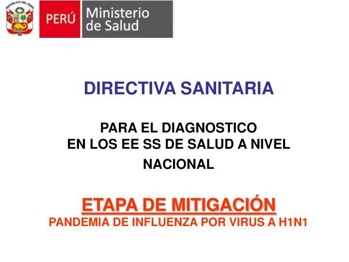 DIRECTIVA SANITARIA
