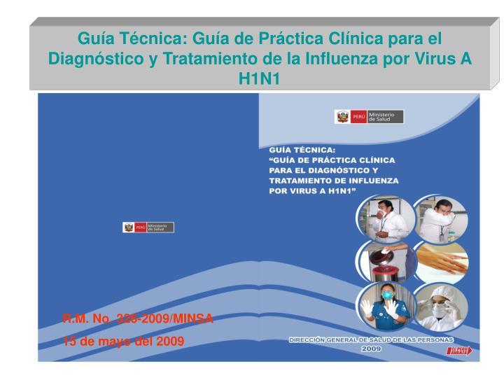 Guía Técnica: Guía de Práctica Clínica para el Diagnóstico y Tratamiento de la Influenza por Virus A H1N1
