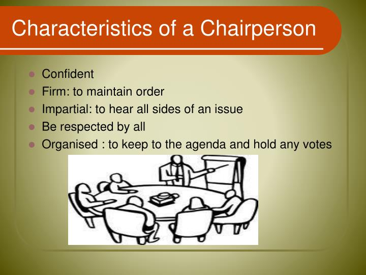 Characteristics of a Chairperson