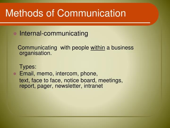 Internal-communicating