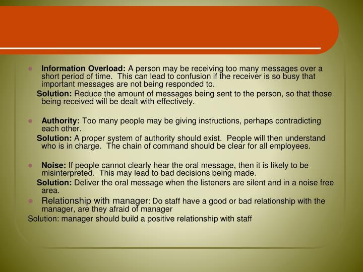Information Overload: