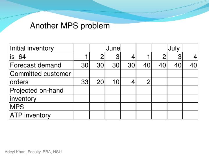 Another MPS problem