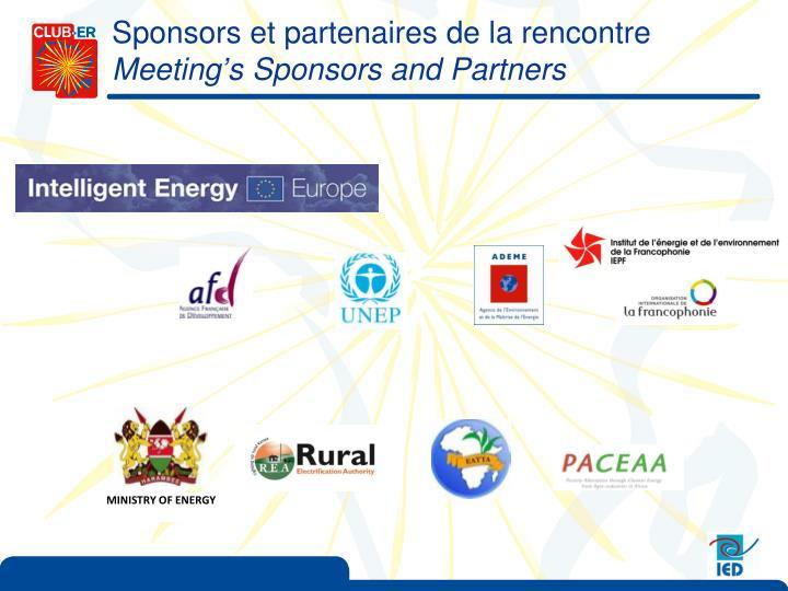 Sponsors et partenaires de la rencontre