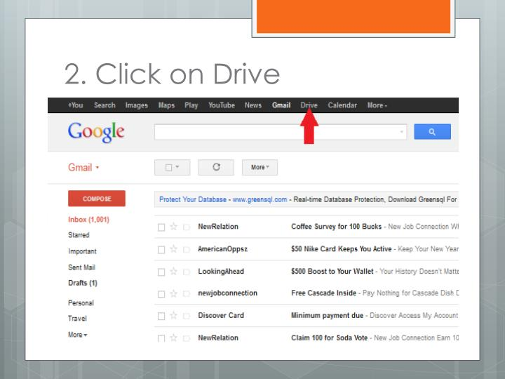 2. Click on Drive