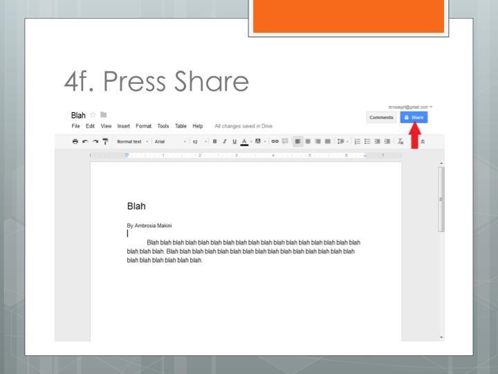 4f. Press Share