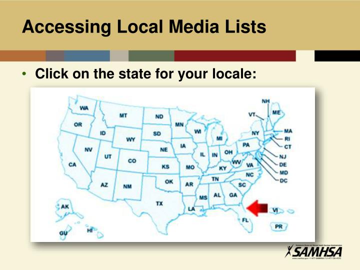 Accessing Local Media Lists