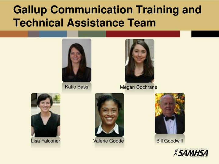 Gallup Communication Training and Technical Assistance Team