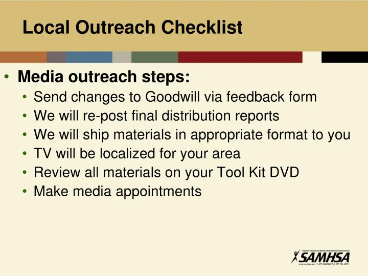 Local Outreach Checklist