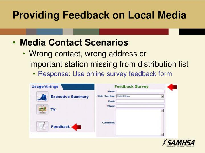 Providing Feedback on Local Media