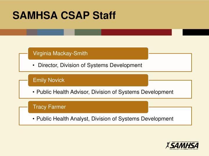 SAMHSA CSAP Staff