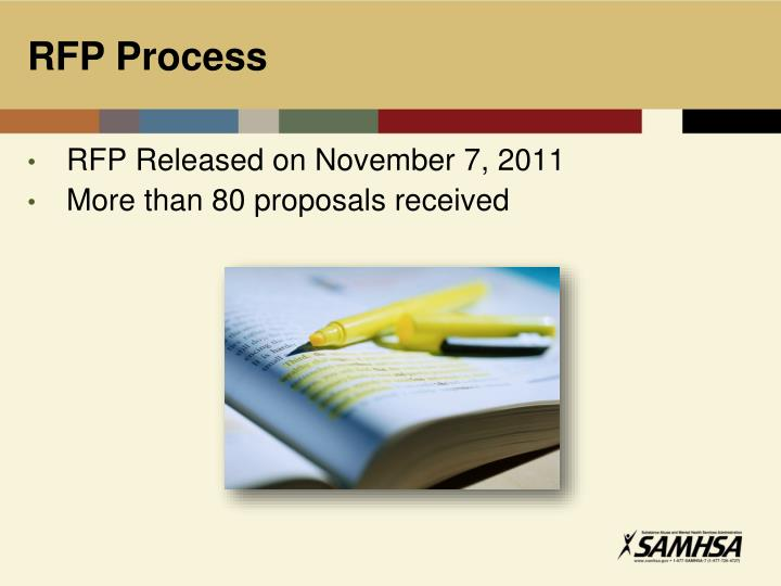 RFP Released on November 7, 2011