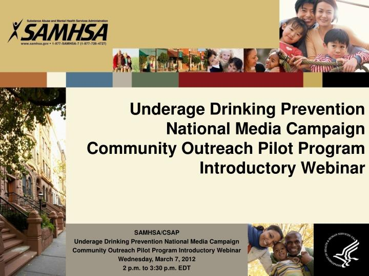Underage Drinking Prevention National Media Campaign