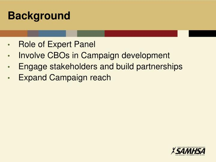 Role of Expert Panel
