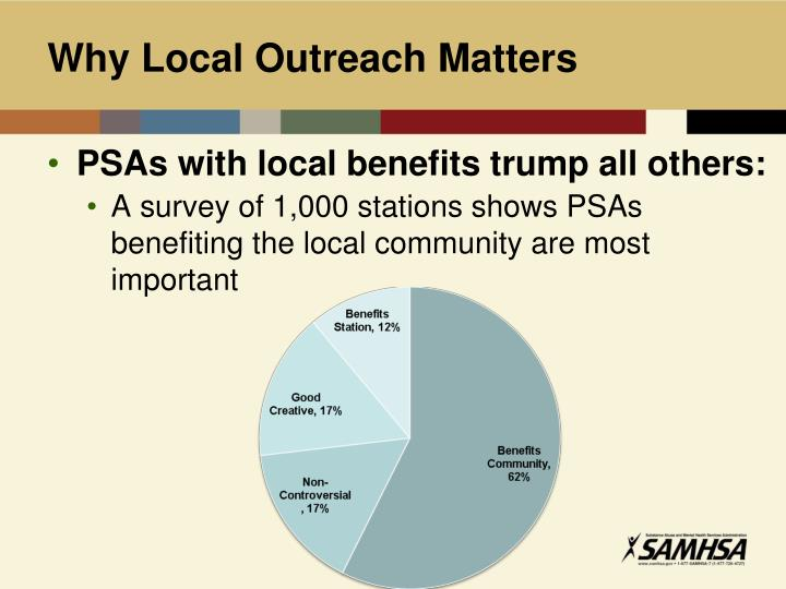 Why Local Outreach Matters