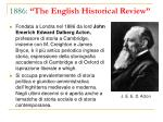 1886 the english historical review